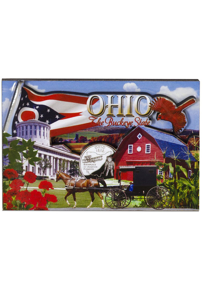 Ohio Photo Montage Magnet - Image 1