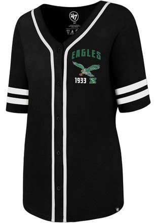 '47 Philadelphia Eagles Womens Black Meridian Scoop