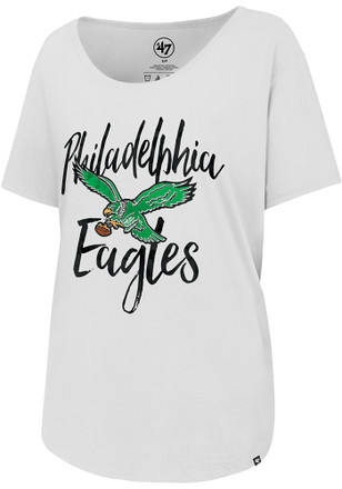 '47 Philadelphia Eagles Womens White Boyfriend Scoop