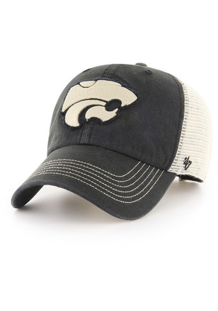 '47 K-State Wildcats Mens Black Springfield Clean Up Adjustable Hat