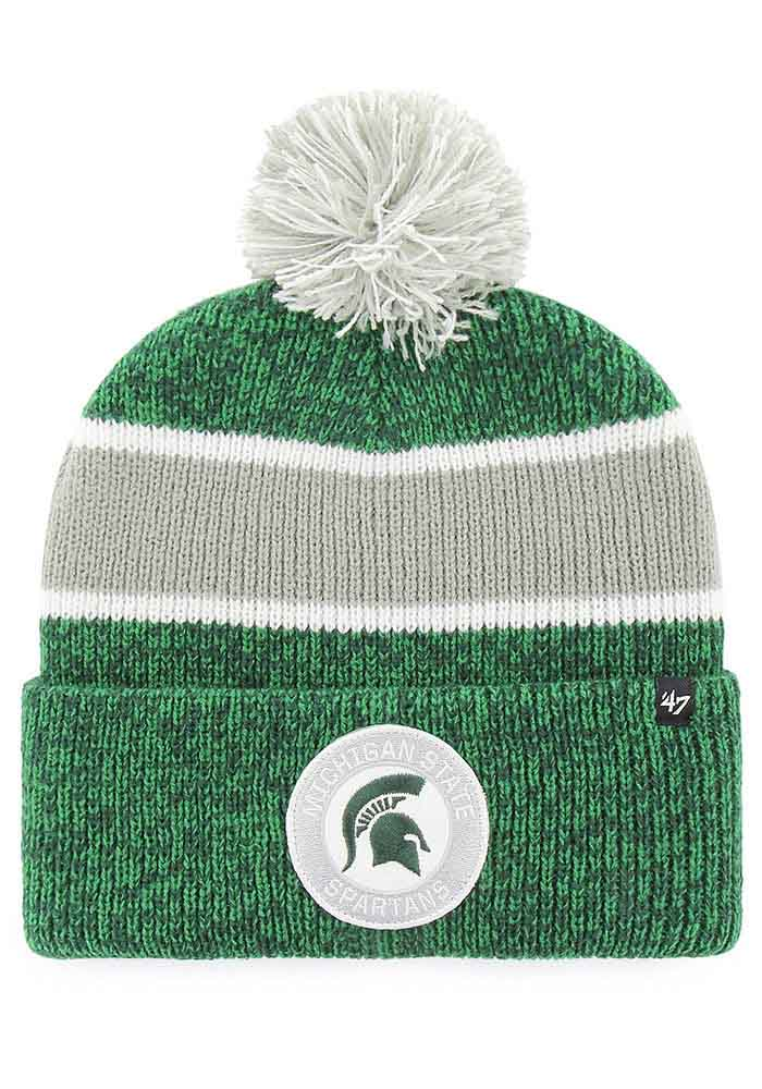 47 Michigan State Spartans Green Noreaster Cuff Mens Knit Hat - Image 1