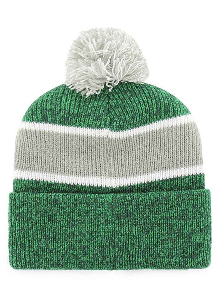 47 Michigan State Spartans Green Noreaster Cuff Mens Knit Hat - Image 2