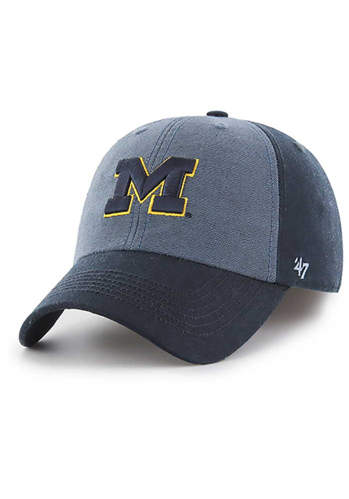 0b69f777f48 ... czech 47 michigan wolverines mens navy blue encoder franchise fitted hat  image 1. e13a1 a5f91