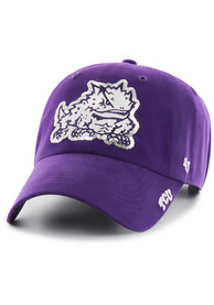 47 TCU Horned Frogs Womens Purple Sparkle Clean Up Adjustable Hat