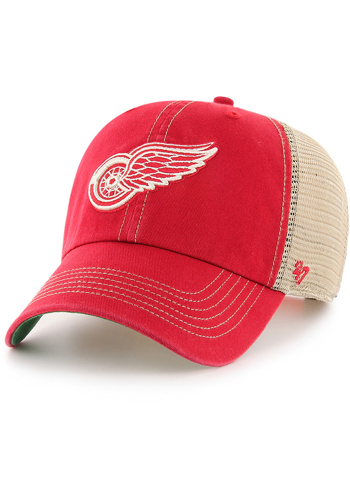 47 Detroit Red Wings Trawler Clean Up Adjustable Hat - Red - Image 1