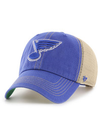 858e142c606  47 St Louis Blues Blue Trawler Clean Up Adjustable Hat