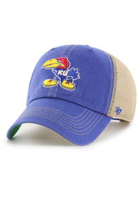 Kansas Jayhawks 47 Trawler Clean Up Adjustable Hat - Blue