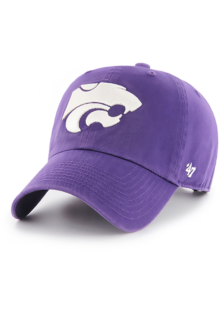 '47 K-State Wildcats Mens Purple Clean Up Adjustable Hat - Image 1