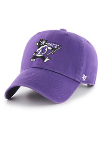 47 K-State Wildcats Clean Up Adjustable Hat - Purple