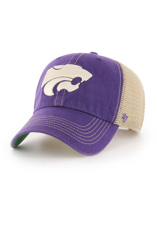 '47 K-State Wildcats Mens Purple Trawler Clean Up Adjustable Hat