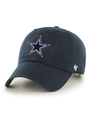 '47 Dallas Cowboys Mens Navy Blue 2017 Playoff ID Clean Up Adjustable Hat