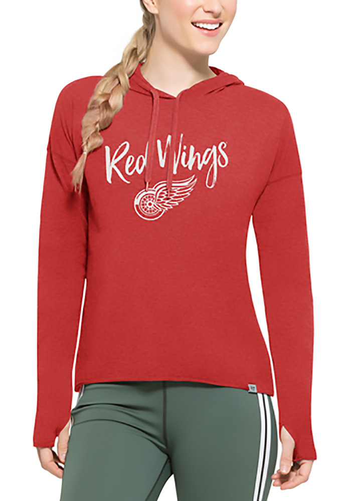 brand new b7cdd d585e '47 Detroit Red Wings Womens Red Energy Lite Hooded Sweatshirt