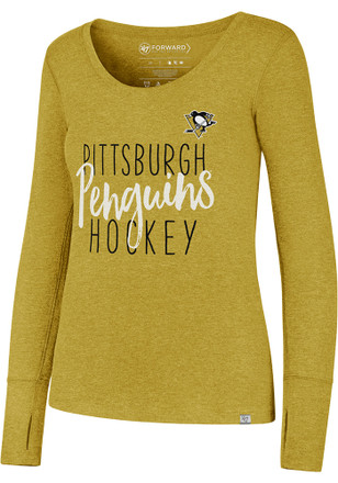 '47 Pittsburgh Penguins Womens Gold Forward Athleisure Tee