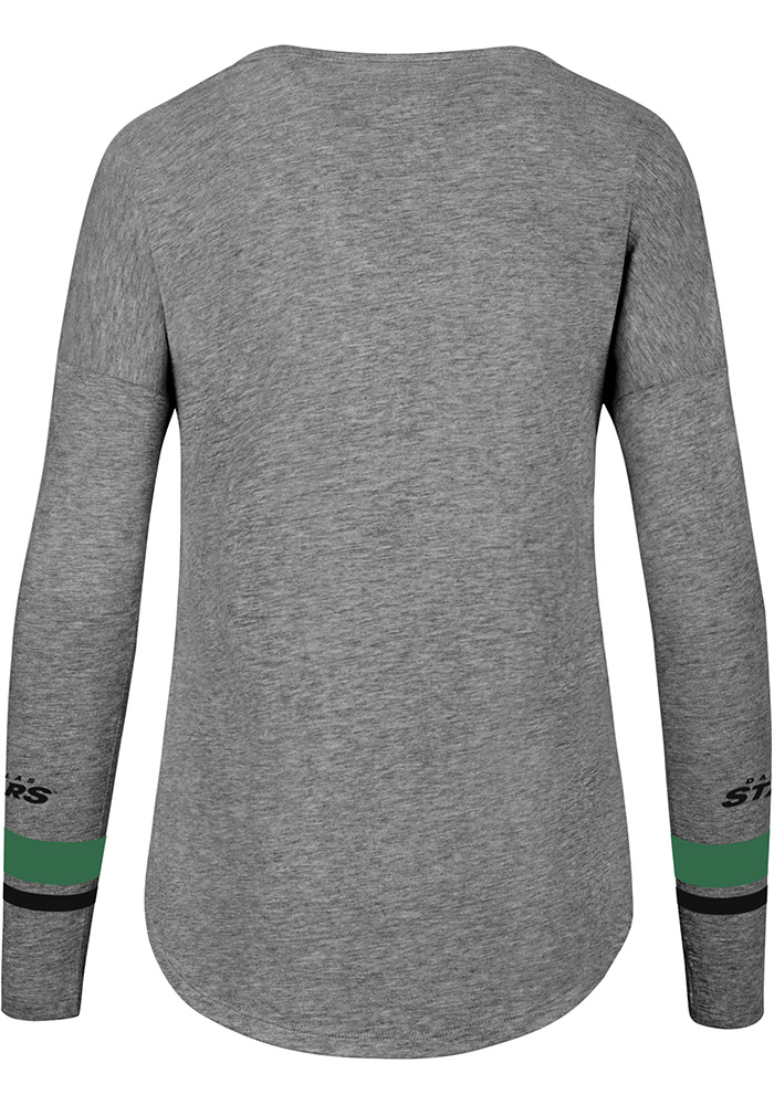 47 Dallas Stars Womens Grey Encore Heather Courtside LS Tee - Image 2