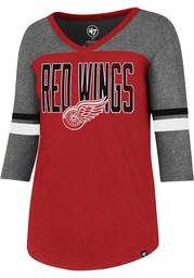 47 Detroit Red Wings Womens Red Club Rush Long Sleeve T-Shirt