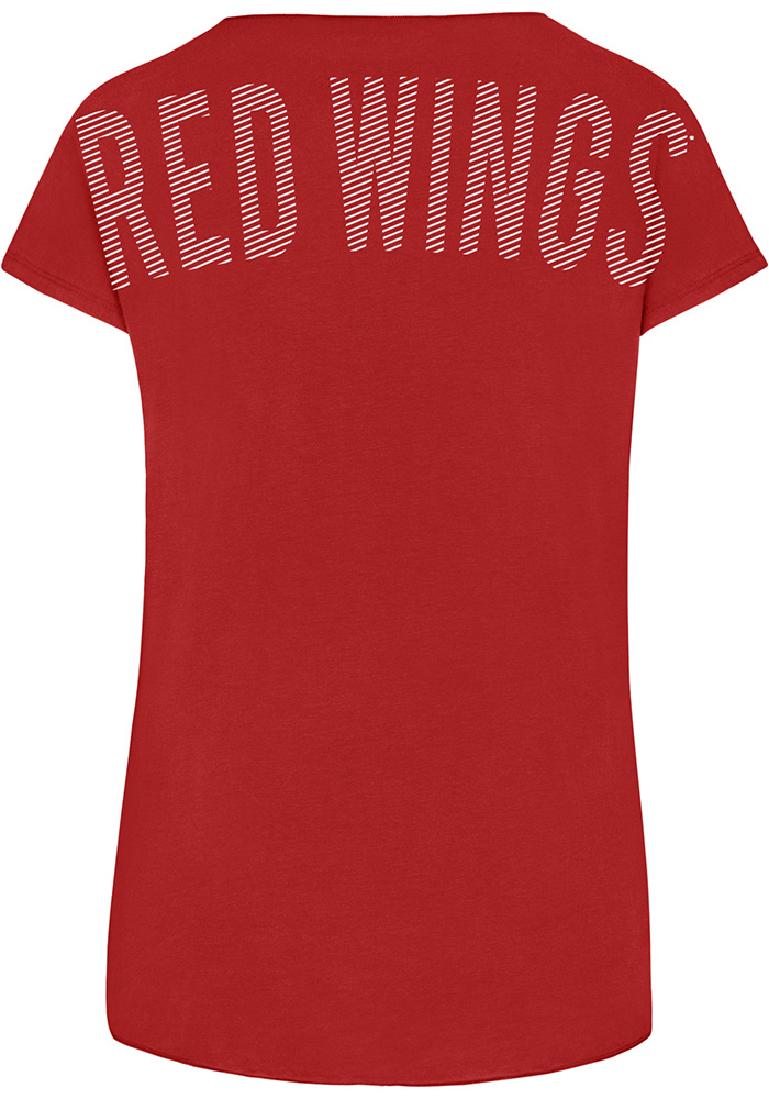 47 Detroit Red Wings Womens Red Lumi SS Athleisure Tee - Image 2