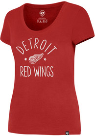 47 Detroit Red Wings Womens MVP Splitter Red Scoop T-Shirt