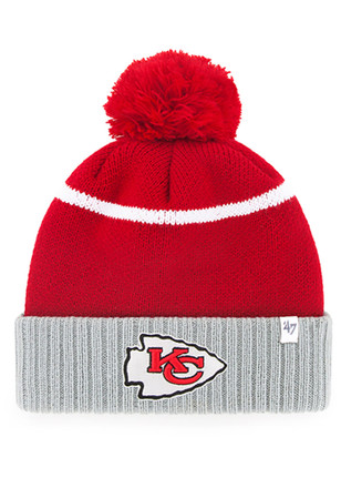 '47 Kansas City Chiefs Red Chop Block Knit Hat