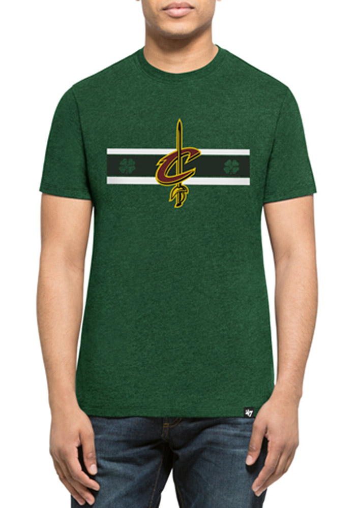 '47 Cleveland Cavaliers Mens Green St. Pat's Club Short Sleeve T Shirt - Image 1