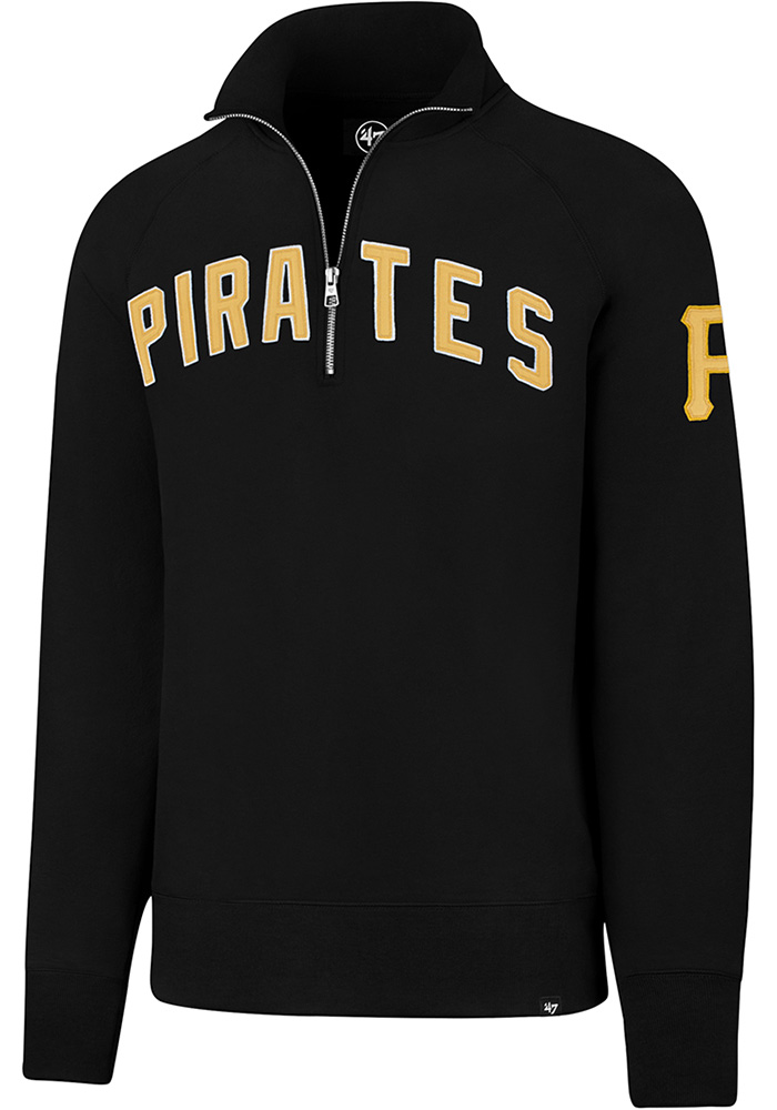 '47 Pittsburgh Pirates Mens Black Striker Long Sleeve 1/4 Zip Fashion Pullover - Image 1