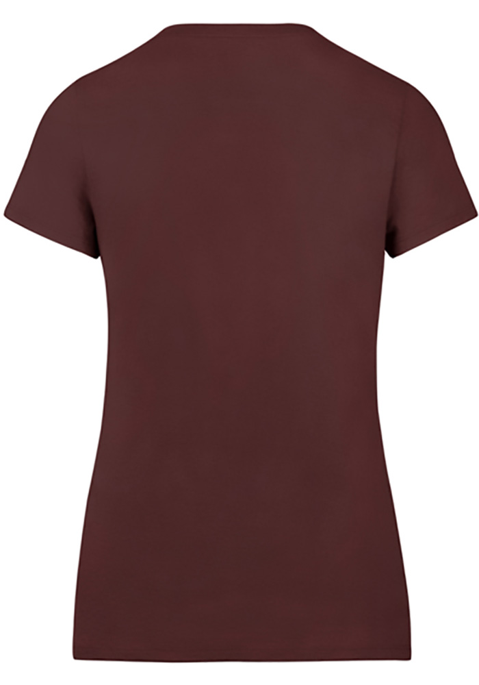 '47 Cleveland Cavaliers Womens Maroon Lux Sequin V-Neck - Image 2