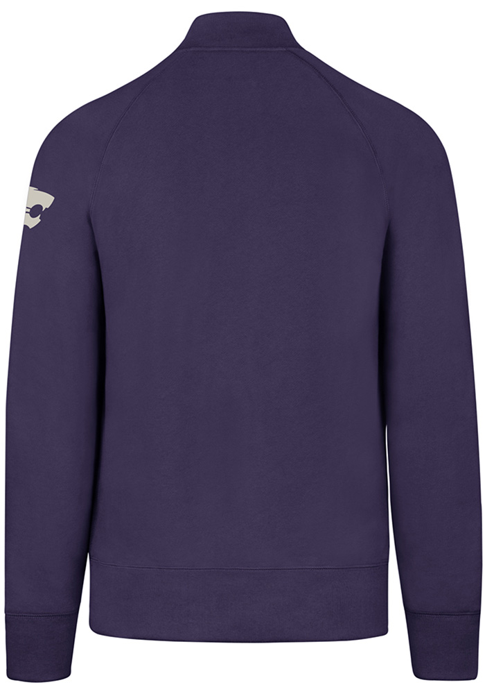 '47 K-State Wildcats Mens Purple Striker Long Sleeve 1/4 Zip Fashion Pullover - Image 2