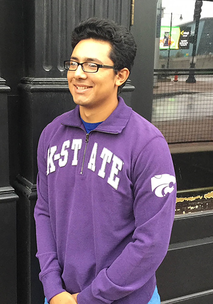 '47 K-State Wildcats Mens Purple Striker Long Sleeve 1/4 Zip Fashion Pullover - Image 3