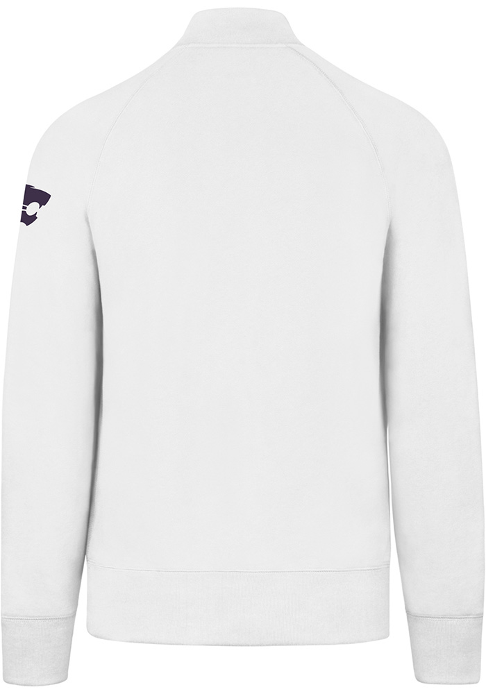 '47 K-State Wildcats Mens White Striker Long Sleeve 1/4 Zip Fashion Pullover - Image 2