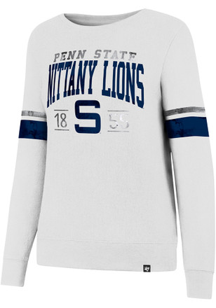 '47 Penn State Nittany Lions Womens Throwback White Crew Sweatshirt