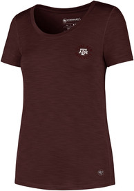 d37faa1d '47 Texas A&M Aggies Womens Microlite Shade Maroon Short Sleeve Tee