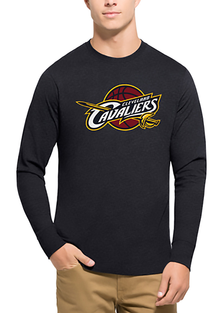 '47 Cleveland Cavaliers Mens Navy Blue Club Logo Long Sleeve T Shirt - Image 1