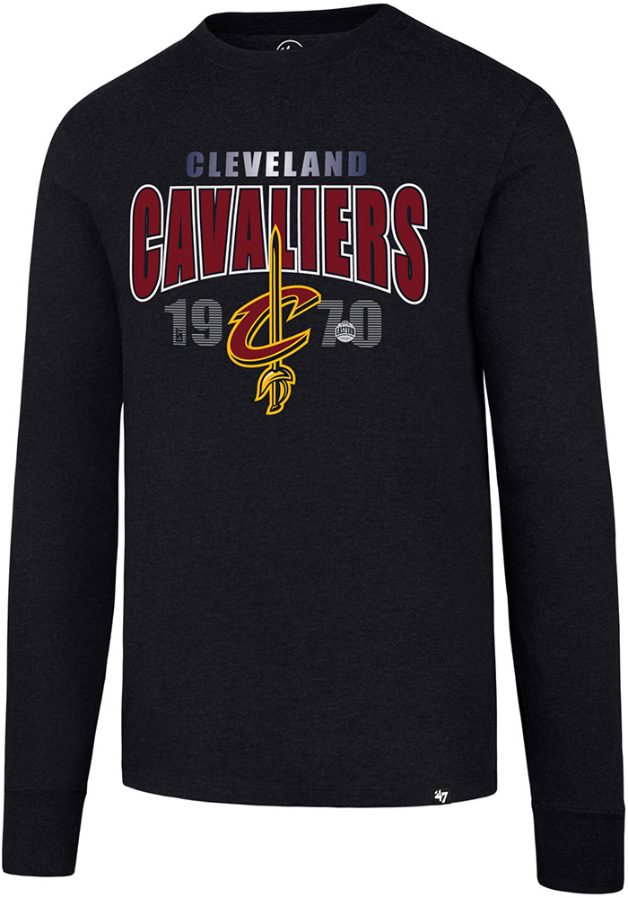 '47 Cleveland Cavaliers Mens Navy Blue Club Long Sleeve T Shirt - Image 1