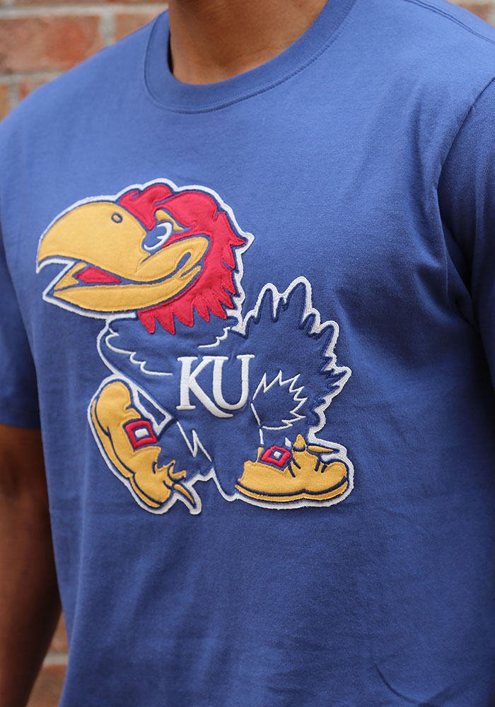 47 Kansas Jayhawks Blue Fieldhouse Short Sleeve Fashion T Shirt - Image 3