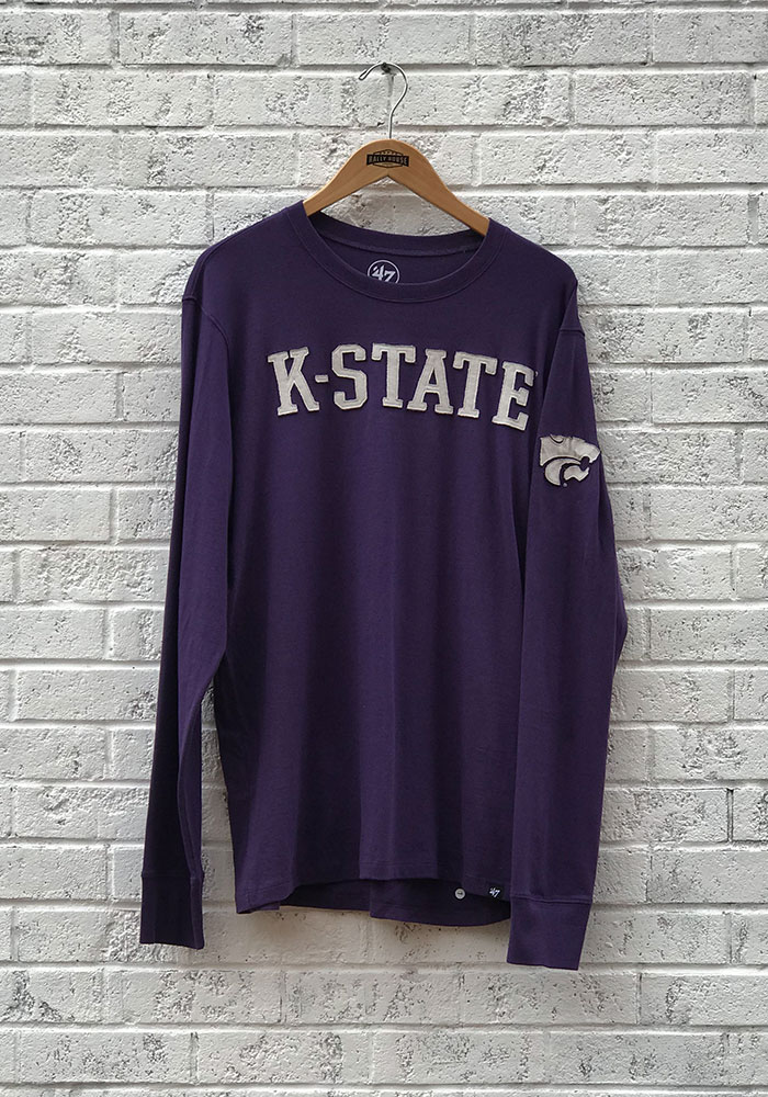 '47 K-State Wildcats Mens Purple Fieldhouse Long Sleeve Fashion T Shirt - Image 1