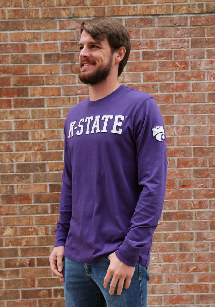 '47 K-State Wildcats Mens Purple Fieldhouse Long Sleeve Fashion T Shirt - Image 2