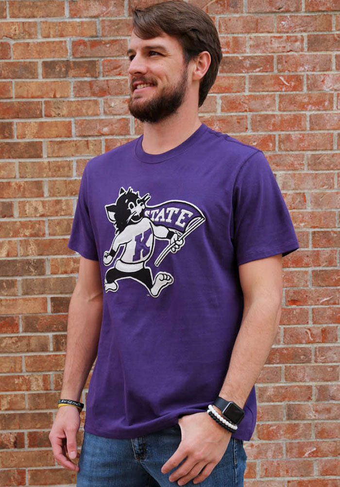 '47 K-State Wildcats Mens Purple Knockout Fieldhouse Short Sleeve Fashion T Shirt - Image 2