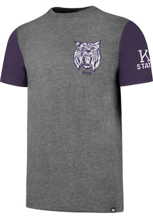 '47 K-State Wildcats Mens Grey Double Rundown Fashion Tee