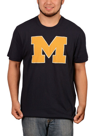 '47 Michigan Wolverines Mens Navy Blue Knockout Fieldhouse Fashion Tee
