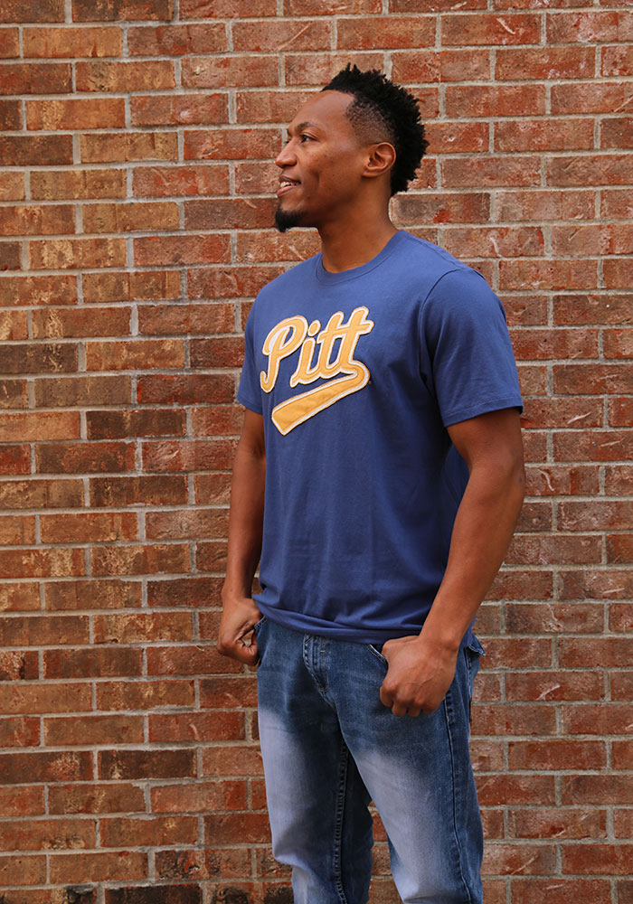 47 Pitt Panthers Blue Knockout Fieldhouse Short Sleeve Fashion T Shirt - Image 2