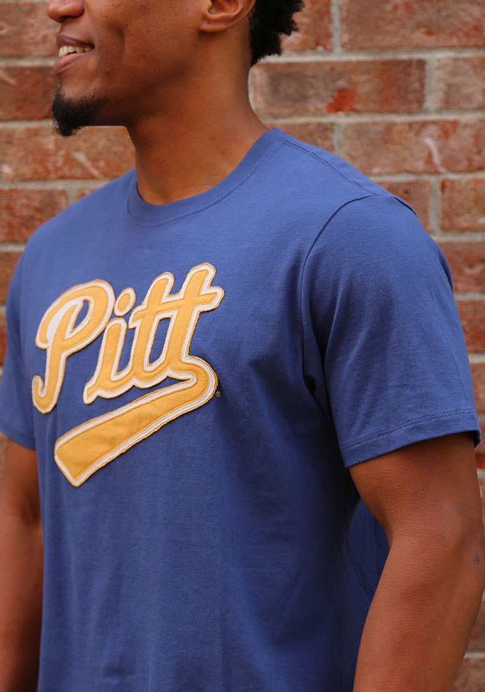 47 Pitt Panthers Blue Knockout Fieldhouse Short Sleeve Fashion T Shirt - Image 3