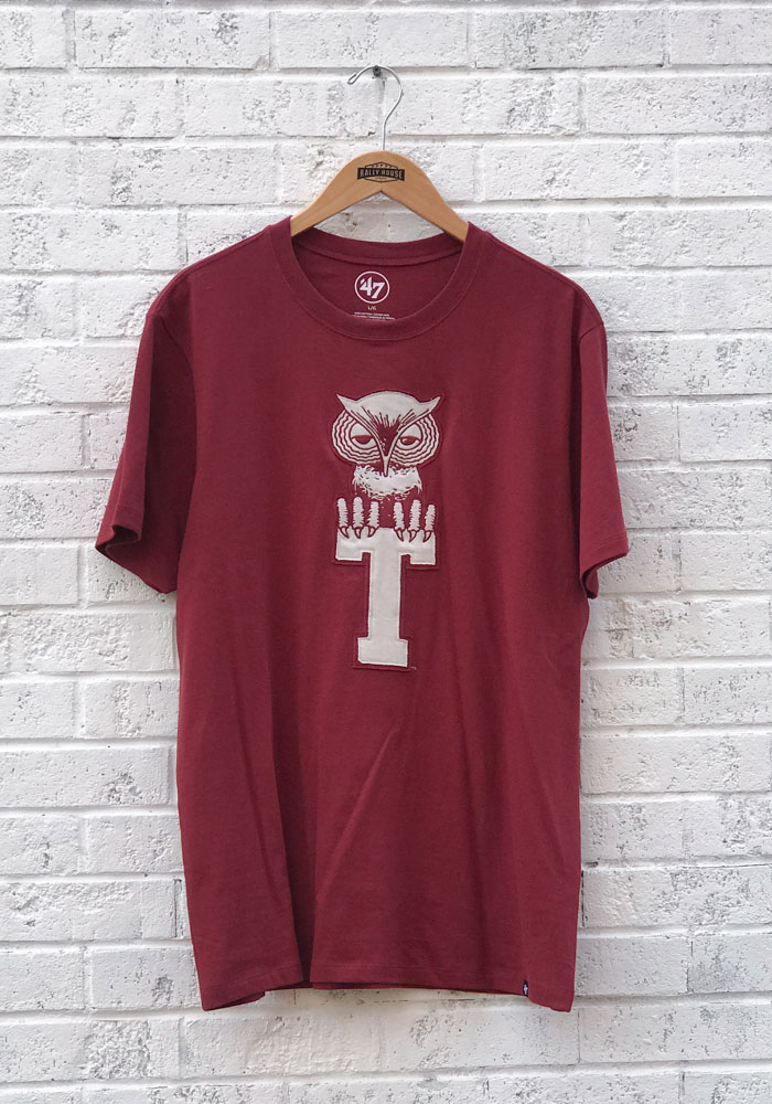 47 Temple Owls Cardinal Knockout Fieldhouse Short Sleeve Fashion T Shirt - Image 1
