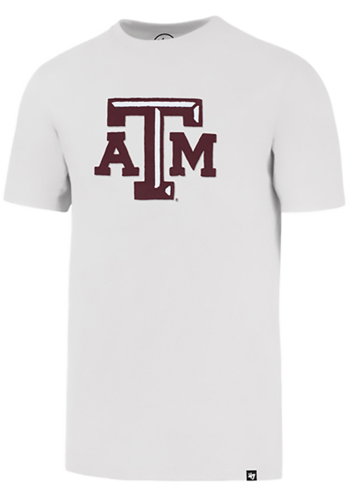 47 Texas A&M Aggies White Knockout Short Sleeve Fashion T Shirt - Image 1