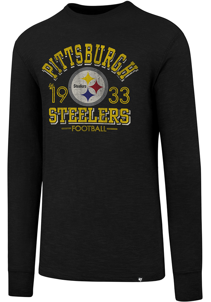 47 Pittsburgh Steelers Black Number One Long Sleeve Fashion T Shirt - Image  1 267f4d49f