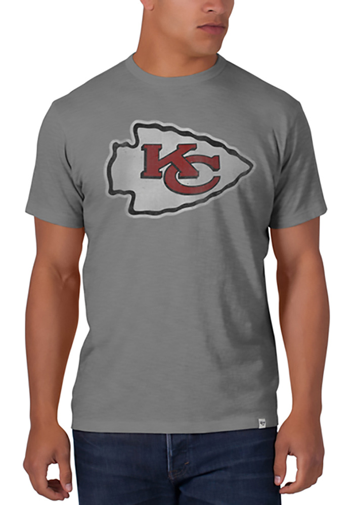 47 Kansas City Chiefs Grey Primary Scrum Short Sleeve Fashion T Shirt - Image 1