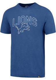 47 Detroit Lions Blue Arch Mascot Fashion Tee