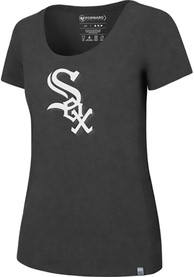 47 Chicago White Sox Womens Black SS Athleisure High Point Alternate Logo Tee Tee