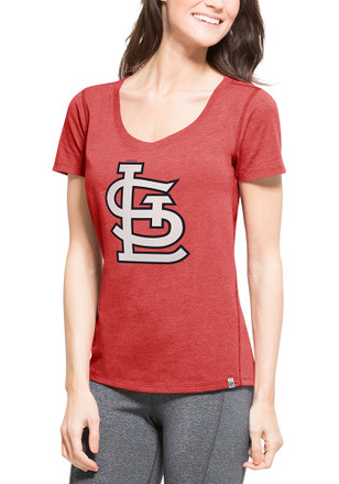 '47 St Louis Cardinals Womens Red SS Athleisure High Point Cap Logo Tee Tee