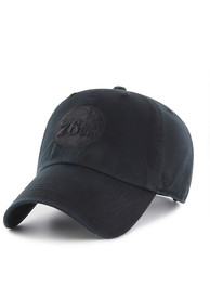 '47 Philadelphia 76ers On Black Clean Up Adjustable Hat - Black