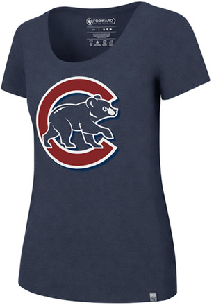 '47 Chicago Cubs Womens Blue SS Athleisure High Point Alternate Logo Tee Tee