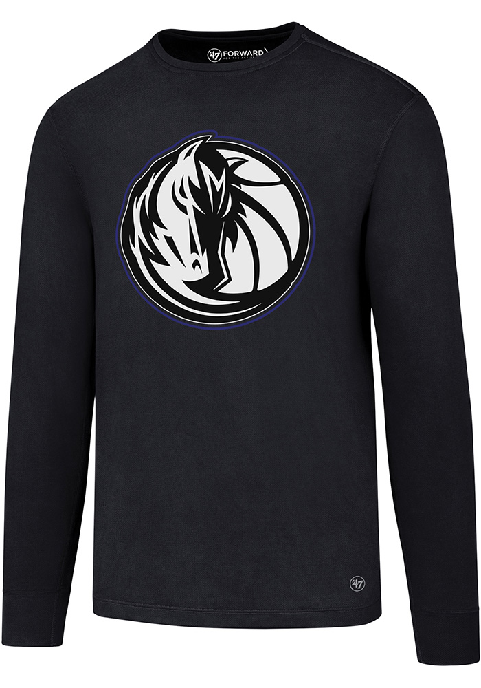 47 Dallas Mavericks Navy Blue Forward Microlite Long Sleeve T-Shirt - Image 1